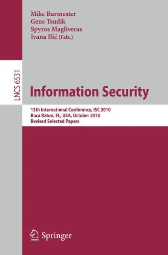 [PDF] Information Security Free Download | Publisher : Springer | Category : Computers & Internet | ISBN 10 : 3642181775 | ISBN 13 : 9783642181771