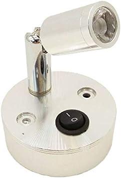 1pcs MASO 12V 1W LED Spot Reading Light Caravan VAN Boat Motorhome Warm Light Interior lamp single