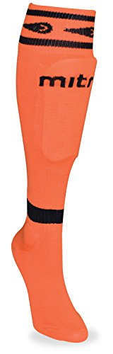 mitre Junior Sock Shin Guard, Neon Orange
