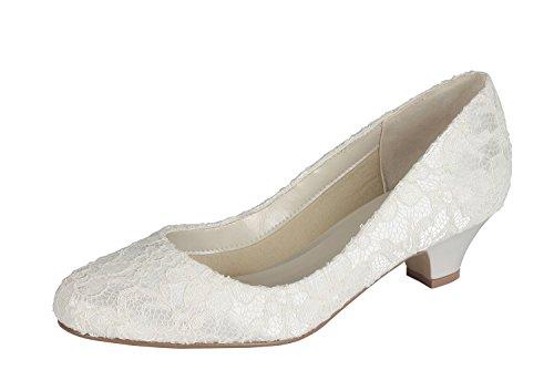 Bajo Tacón Pink Ivory Zapatos Boda Corte De Marfil Encaje London Satén Paradox Bon Y 0ZqwSvvxA