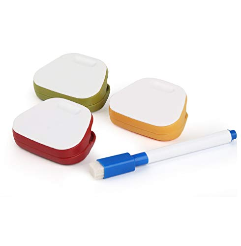 3pcs with pen Multi-Purpose Magnetic Refrigerator Clip, Spring Loaded Refrigerator Wall Magnetic Memo Note Clip, Food Bag Clips, Bag Sealing Clips, Best Bag Clips.
