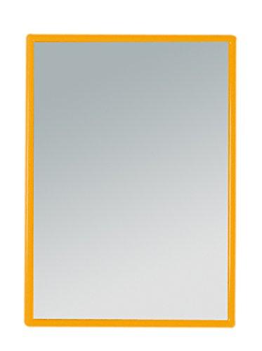 Handspiegel klein, rechteckig (orange)
