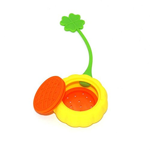 Funnytoday365 1Pcs Creative Sunflower Silicone Tea Infuser Kitchen Gadgets by FunnyToday365 (Image #2)