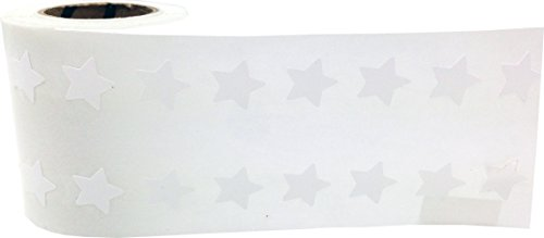 InstockLabels White Star Stickers 1/2 Inch 1,000 Adhesive Stickers, White Photo #2