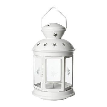 Amazon De Ikea Laterne Rotera Windlicht Kerzen Teelichthalter Aus