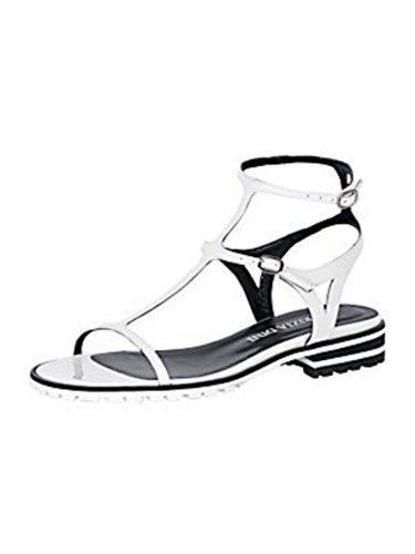 Piel De Sandalette Mujer Patrizia Dini Blanco Barniz 5qOt6wt