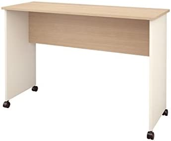 Atelier Mobile Work Surface from Nexera, Natural Maple Ivory