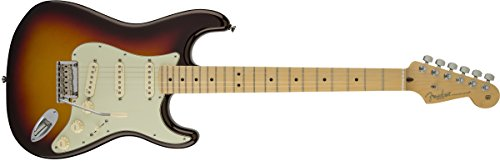 Fender American Deluxe Stratocaster Plus Electric Guitar with Maple Fingerboard and Hardshell Case - Mystic 3-Color Sunburst