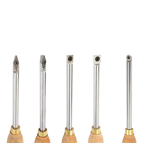 Festnight Wood Turning Tool Finisher Carbide Tipped Wood Lathe Alloy Steel Lathe Carbide Insert Wrench Cutter Tools Wood Handle Woodworking Tool