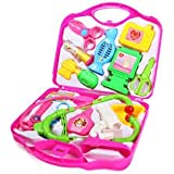ToyMart 14 Pc Doctor Play Set With Foldable Suitcase ( Pink And Blue Color ) For Kids