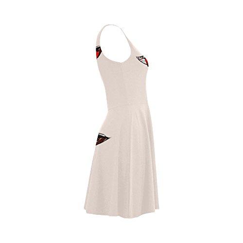 Design1 Giraffe Summer with Dress Women Dress D Sleeveless Sunglasses Story Women Sundress wqxPZtABp