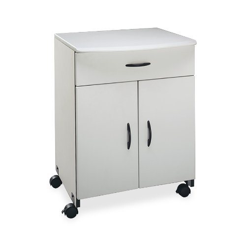 Buddy Products Wood Laser Printer and Copier Stand with Drawer, 23 x 31.125 x 23 Inches, Gray (9140-18) Buddy Products Printer