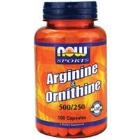 (Now Foods L-Arginine & Ornithine 500/250 mg - 100 Caps by NOW )