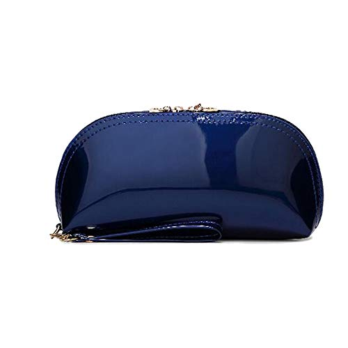 Bag Shoulder Leather Beaded (Women Patent Leather Strap Clutch Purses Bags Wallets Cellphone Pouches Solid Color (blue))