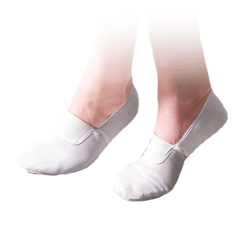 Vita Damer Balett Dans Dans Mjuka Skor Oss Sz 6.5 Vit