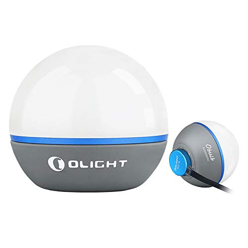 Olight Obulb 55 Lumens 4-Mode Orb Light Night Lights MCC Rechargeable Bedside Lamp with Magnetic Bottom for Home Decor, Nursery, Camping, Hiking…