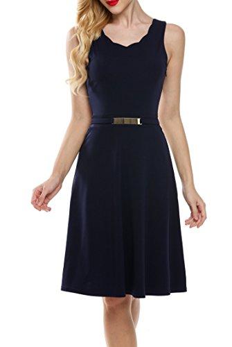 120341dd8e20 Damen blau Y Partykleid Festliche Zeagoo Jacquard Cocktailkleid ...