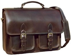 handmade leather briefcase made in usa custom hide ranger briefcase design crafted leather 6098