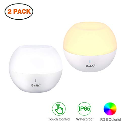 (Bable Baby Night Light for Kids, LED Touch lamp, RGB Color Changing Lights for Bedroom, Bath Toy IP65 Water-Resistance & Drop-Resistance for Shower Gifts, 2)