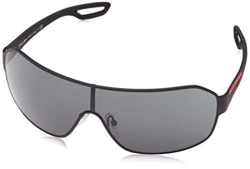 Prada Sport PS52QS DG01A1 Visor Sunglasses, Black, - Sunglasses Rectangular Prada
