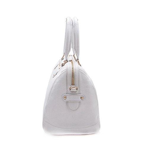 Mano Grande Blanco Bolsos 5 Zerimar 29x21x18 Fuxia Medidas Bolso Color Mujer Piel De Para wxXTnSq