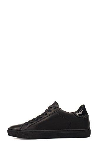 Cuero Crime Negro Zapatos 25424a17b20 London Mujer vxC64pq