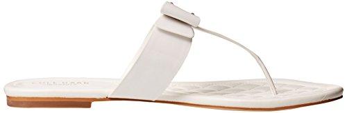Cole Haan Tali arco Sandalias planas Optic White Patent