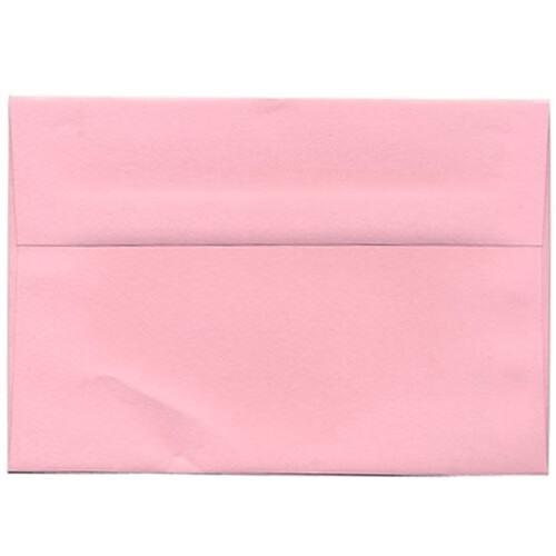 JAM PAPER A9 Premium Invitation Envelopes - 5 3/4 x 8 3/4 - Baby Pink Pastel - 50/Pack