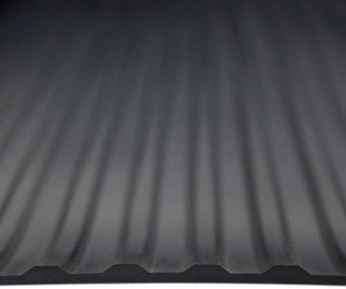 8m/² 1,0 x 8,0m Farbe: Schwarz Gr/ö/ße w/ählbar St/ärke: 3mm Breitriefenmatte