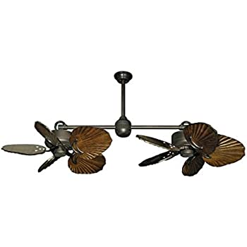 Twin star iii double ceiling fan in oil rubbed bronze with 35 twin star iii double ceiling fan in oil rubbed bronze with 35 series 600 arbor mozeypictures Choice Image