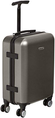 AmazonBasics Metallic Hardshell Carry-On Spinner Luggage Suitcase with TSA Lock - 20 Inch, Graphite (Luggage Carry On Spinner)