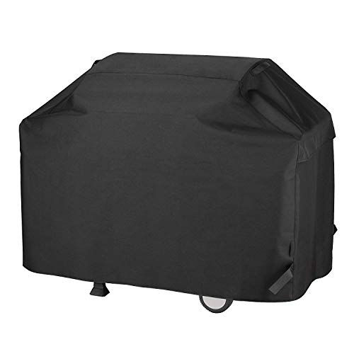 Barbecue Grill Cover Gas BBQ Cover Waterproof Patio UV & Fade Resistant Heavy Duty for Most Grill Brands Weber Char-Broil Nexgrill Holland Brinkmann Jenn Air and Kenmore 75″ XX-L Outdoor (XXL, Black)