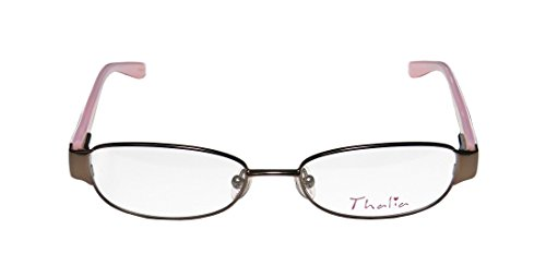 Thalia Coco WomensLadies Rxable Sleek Designer Full-rim Strass Flexible Hinges EyeglassesGlasses (47-15-130 Brown  White  Rose)