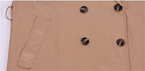 Windbreaker De Abrigos Solapa Primavera Elegantes Doble Botonadura Khahi Slim Mujeres Largos Fashion Outerwear Battercake Mujer Con Classic Cinturón Manga Fit Casuales Otoño Gabardina Larga RC7YAnqxwP