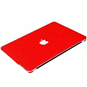 "Ntech Apple Macbook Pro Retina Display 13"""" 13.3"""" Inch Rubber Coated Soft Touch Finish Case Cover Red"