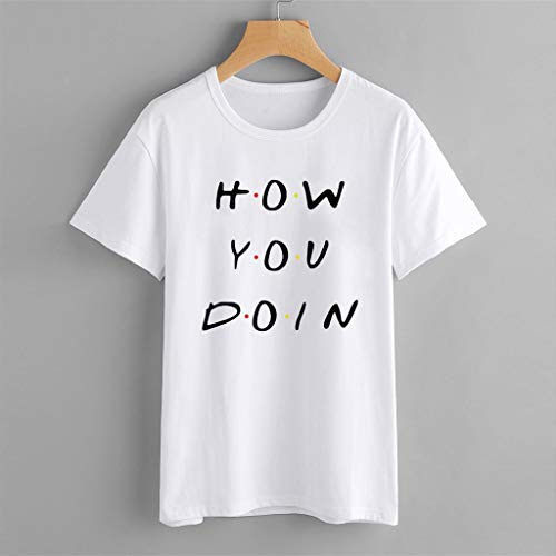 Zackate Womens Casual Letters Printed T Shirt Summer O-Neck Short Sleeve Top Blouse Sweatshirts Tee XS-4XL White by Zackate_Women Sweatshirts (Image #5)