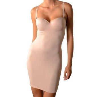 Curvi Shapewear W-Y-O-B No Bra Full Body Firm Control Shaping Full Body Slip FBNB001 (5 Sizes And 2 most popular Colors) (3X, Black)