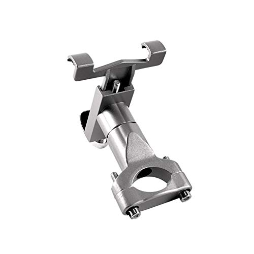 Nesee Bicycle Mobile Phone Bracket Aluminum Alloy Motorcycle Mobile Phone Holder Battery Car Electric Vehicle Shockproof Mobile Phone Stand Fixed Riding Navigation Phone Rack (Gray) ()
