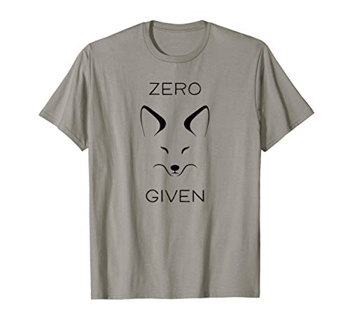 Funny Fox T Shirt Cute Adult Animal Tee Zero Fox Given (Adult Fox T-shirt)