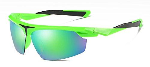 Sol Polarizado Guía Con Polarizadas Hombres Uv400 Gafas TIANLIANG04 El Gafas green Verde Sol Bastidor Para Negro Espejo De Medio Hombres Cuadro De 6XngqWf