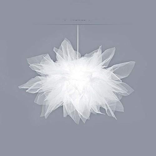 - BDHBB Chandelier Romantic Modern Gauze Fabric Nordic Lighting Personality Creative Lighting Warm Romantic Simple Modern Girl Bedroom Chandelier,Whitelight