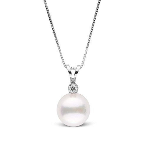 Harmony Collection 8.5-9.0 mm AAA Akoya Cultured Pearl Pendant - White Gold - 16 Inch ()