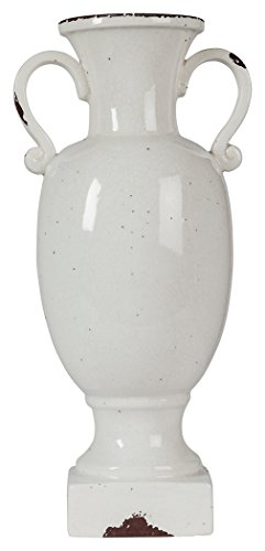 Vintage Urn - Ashley Furniture Signature Design - Dierdra Urn - Vintage Farmhouse Style - Antique White