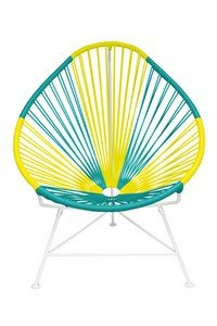 Innit Designs 01-02-18 Acapulco Chair, Germany Weave on Chrome Frame