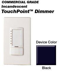 (Leviton Single pole 1000W Point Incandescent Touch-Pad Dimmer-Black color TPI10-1LE)