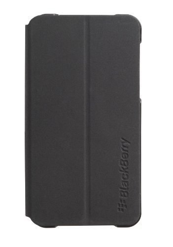 BlackBerry OEM Leather Flip Shell Pocket for BlackBerry Z10 - Black