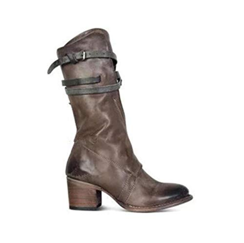 eed27369ca3a7 Together to create a miracle Knee High Boots Vintage Shoes Fashion Women  Shoes Zip 3 Colors