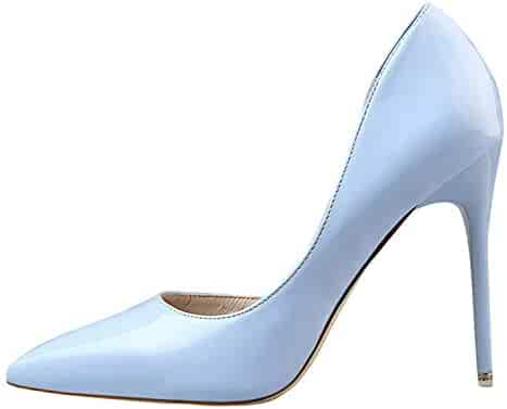 cc8885bbe75 HANBINGPO New 2019 Women Pumps Elegant Pointed Toe Patent Leather Office  Lady Shoes Spring Summer High
