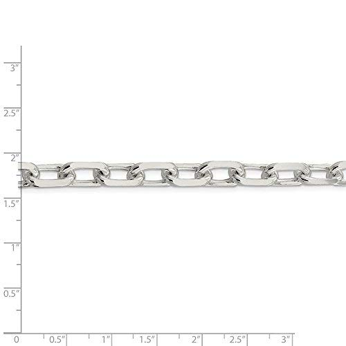 Brilliant Bijou Solid .925 Sterling Silver 9mm Fancy Diamond-Cut Open Link Cable Chain 20 inches