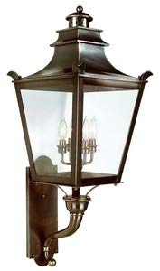 Troy Lighting Dorchester 4-Light Outdoor Wall Lantern - English Bronze Finish with Clear Glass